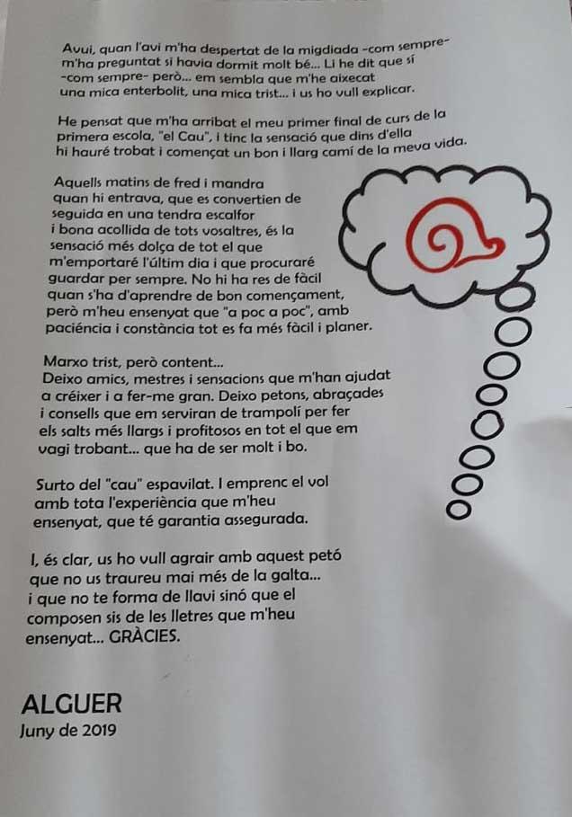 La carta de l'avi de l'Alguer